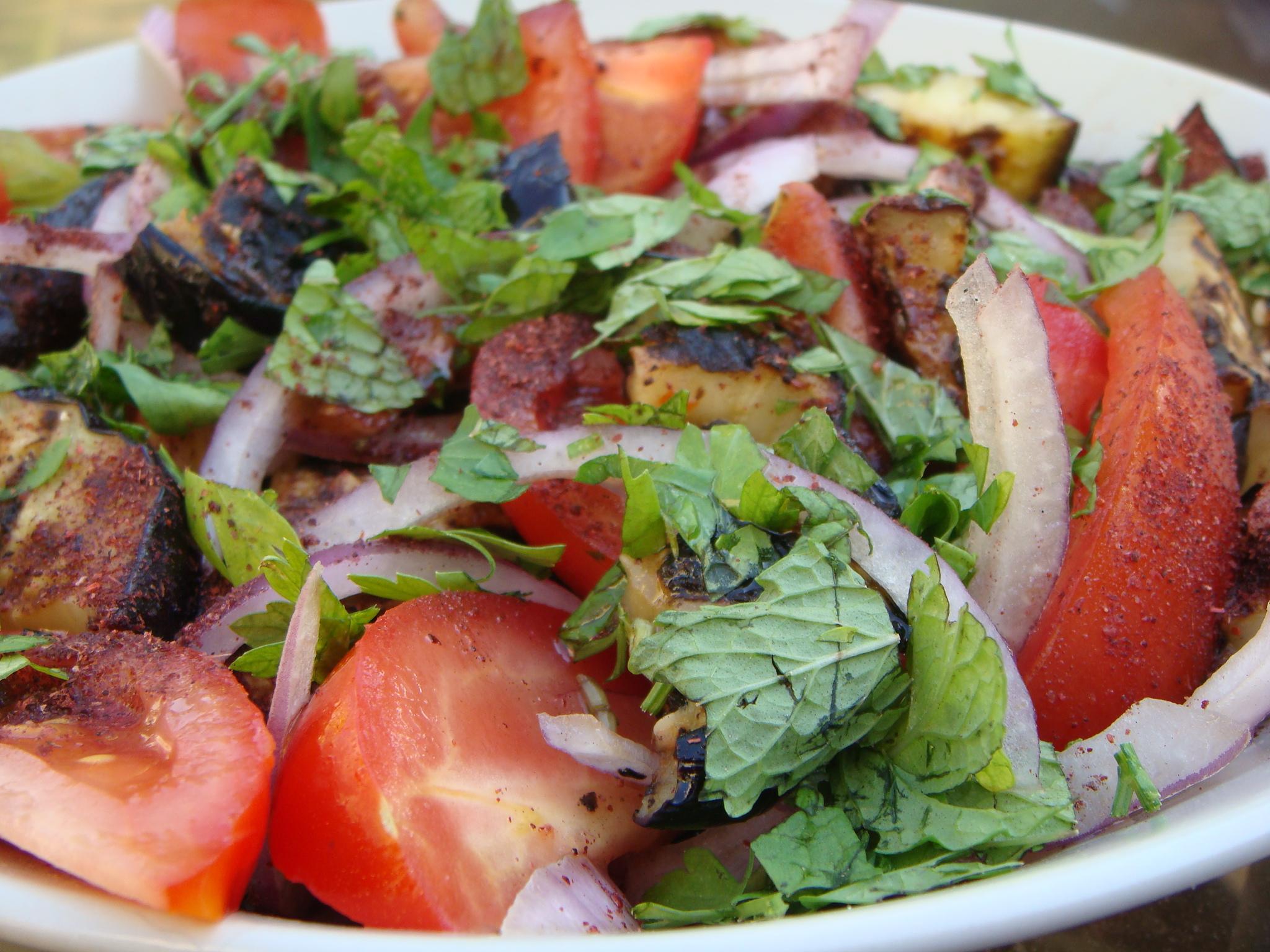Aubergine (Eggplant), Tomato and Sumac Salad | Divalicious In Dubai